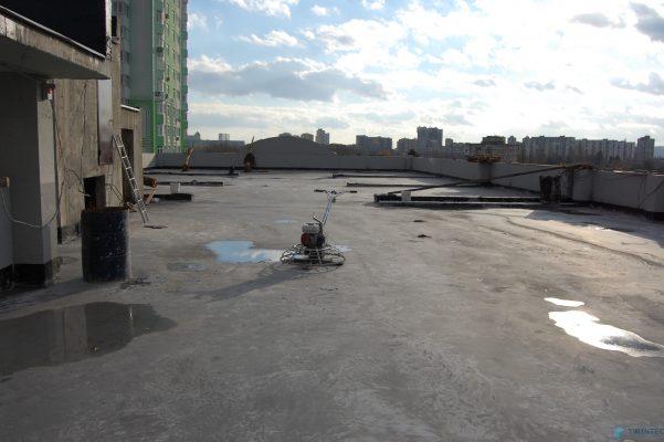 пол на крыше паркинга